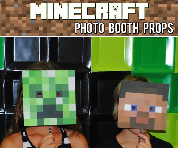 Make Your Own Minecraft Photo Booth Props