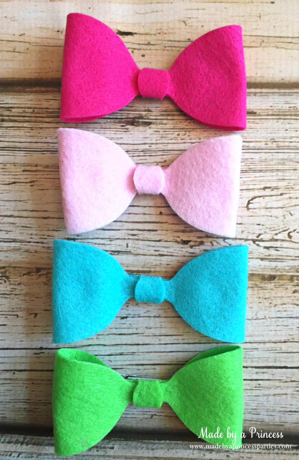 sizzix felt hair bow set
