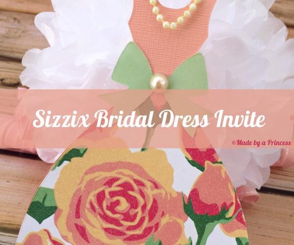 Sizzix Bridal Dress Invite