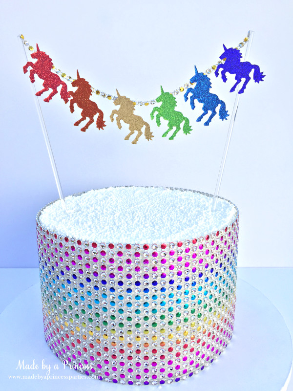 sizzix unicorn garland cake