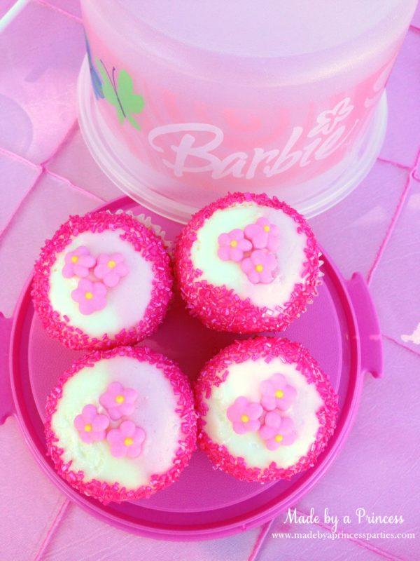 barbie tea party cupcakes