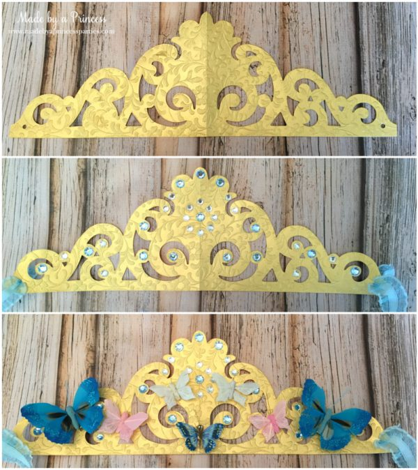 sizzix crown tutorial finishing steps