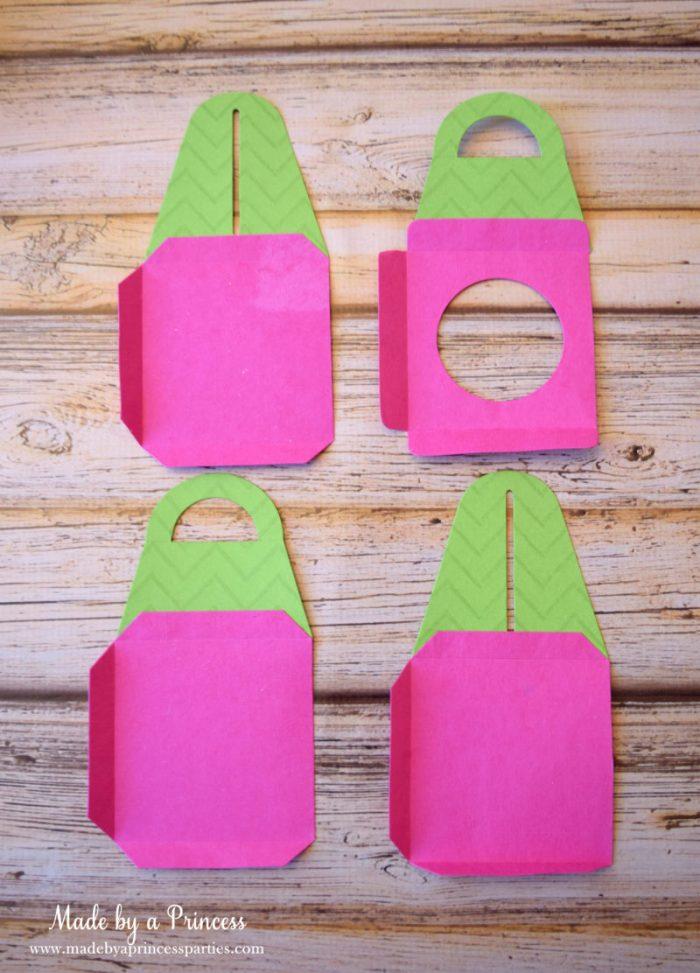 sizzix cupcake box pink paper