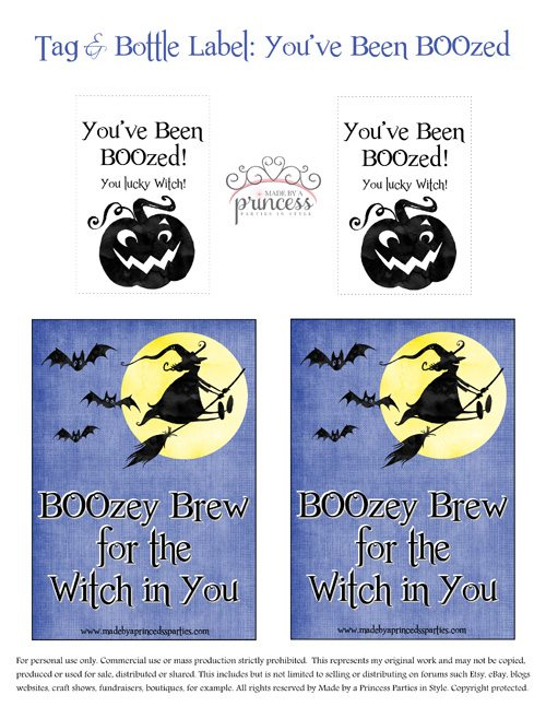 you've been boozed brew tag and label - made by a princess