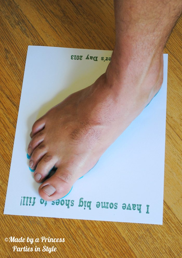 fathers day craft big shoes to fill step 3