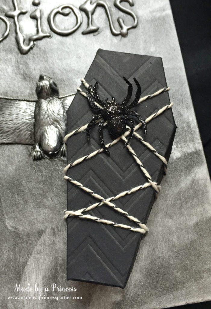 Spooky Halloween Coffin Invitations