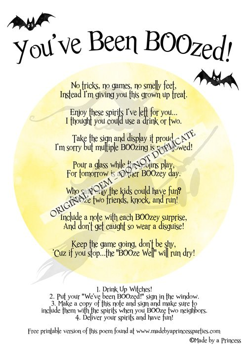 you've been boozed - made by a princess