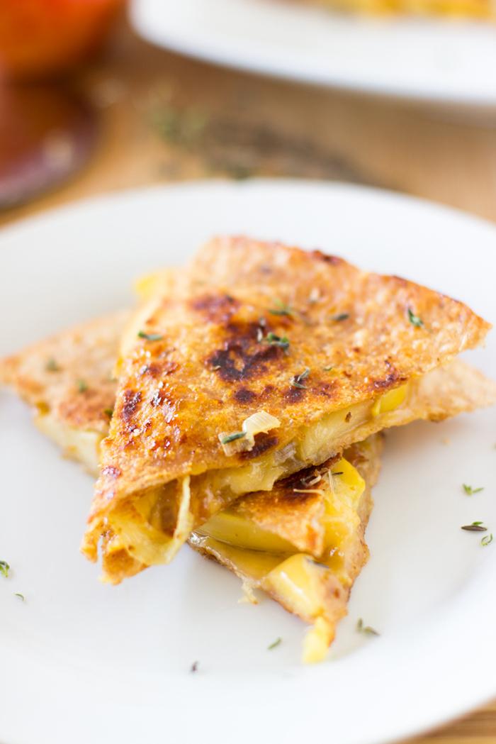 apple gouda quesadilla jessica in the kitchen