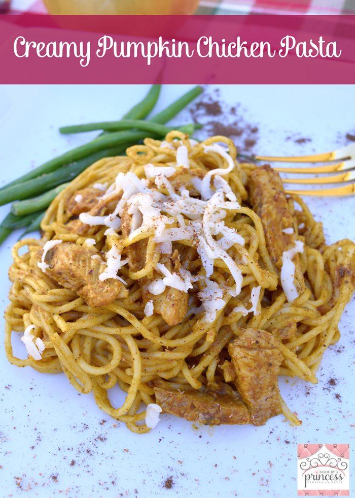 creamy pumpkin chicken pasta main