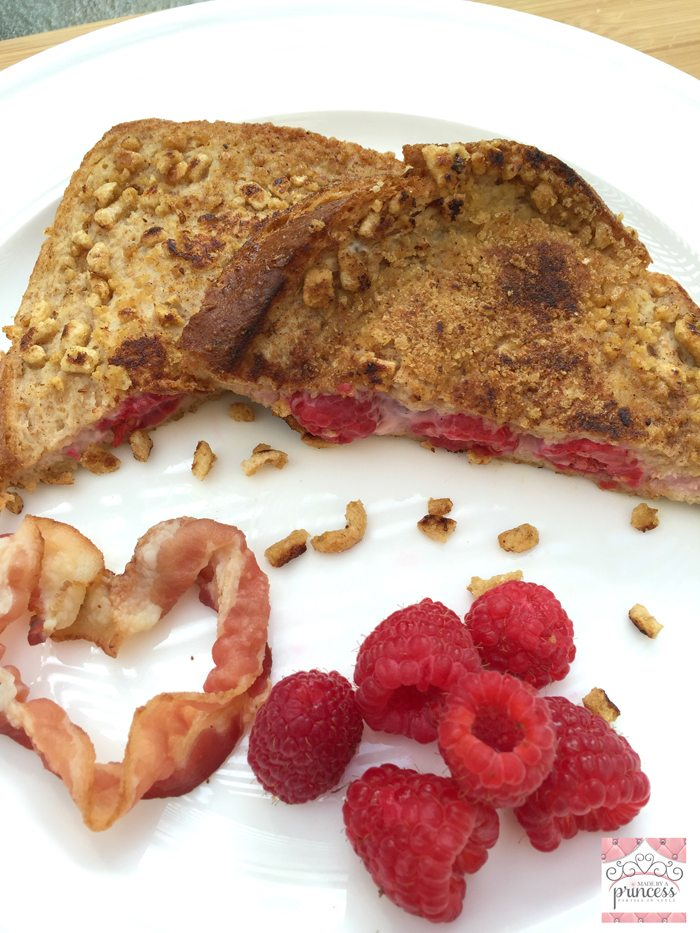 skinny stuffed french toast with bacon