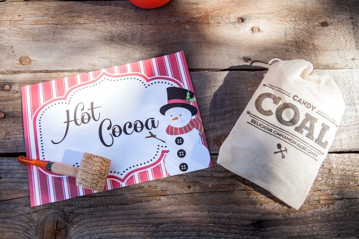 candy cane lane christmas party cocoa sign