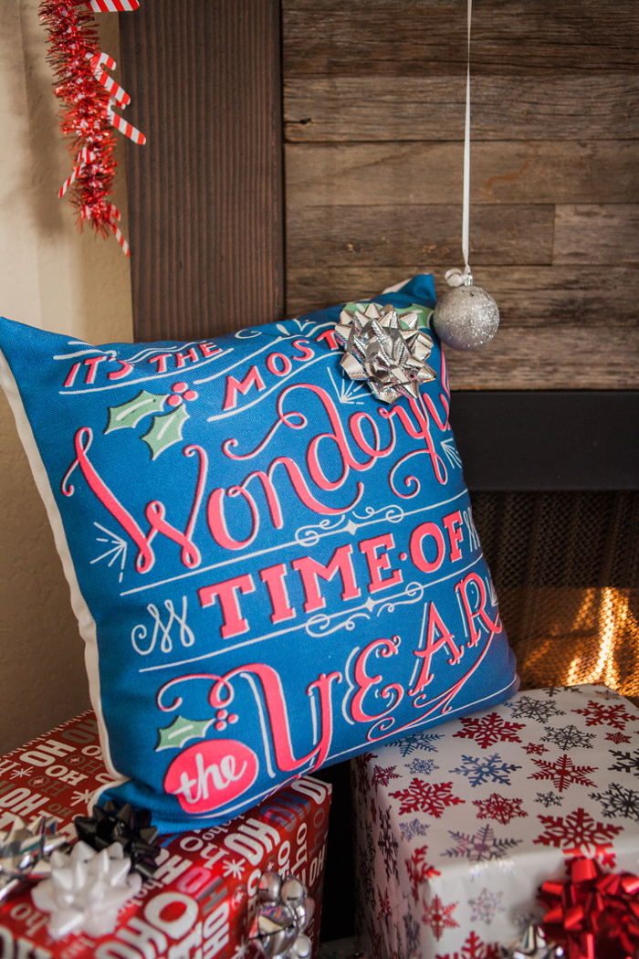 candy cane lane christmas party wonderful time of year pillow