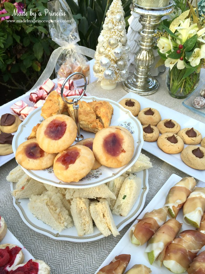downton abbey cpwm cookie exchange table with tier