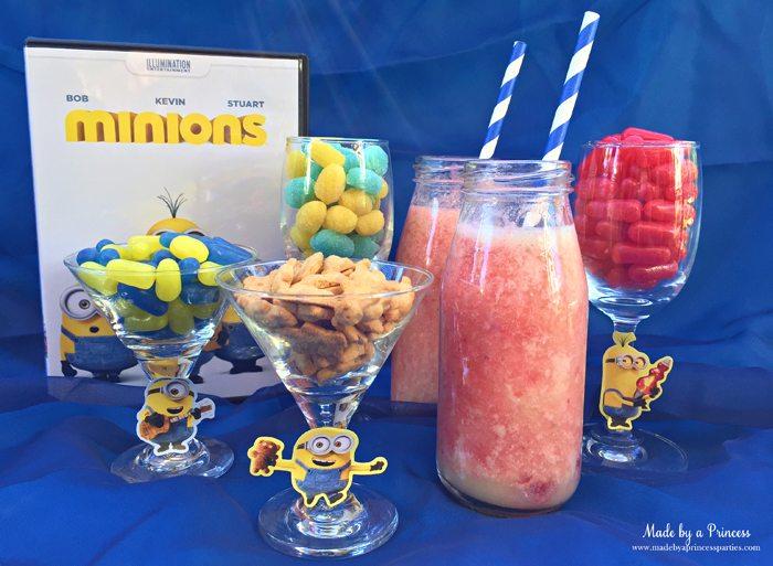 minions movie night lava mocktail party snacks