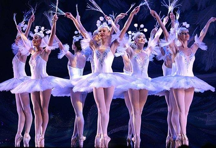 moscow ballet nutcracker snowflakes group
