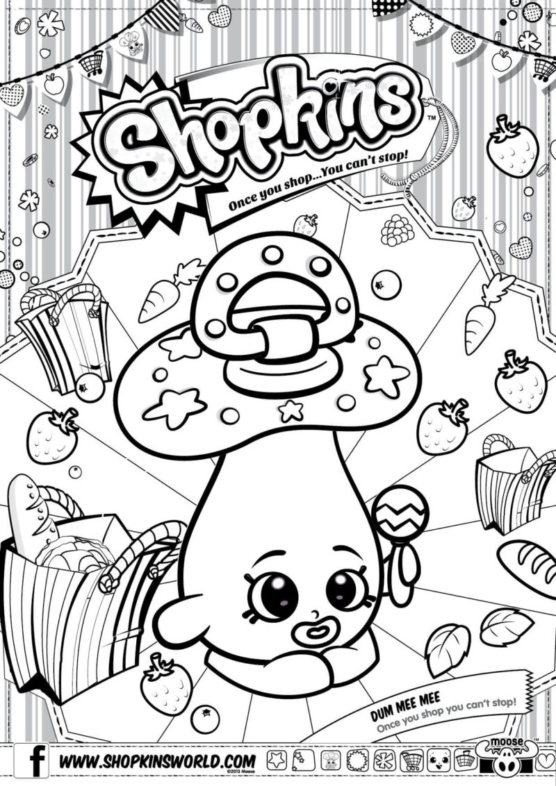 Shopkins Coloring Pages Season 2 Dum Mee Mee Made By A Princess