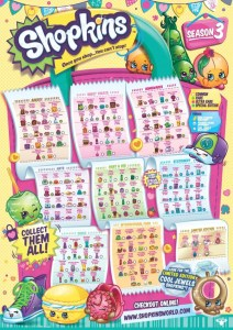 Shopkins Season 3 Collectors Guide Checklist