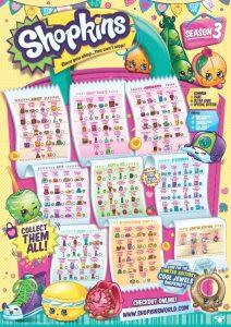 Shopkins Season 3 Collectors Guide Checklist
