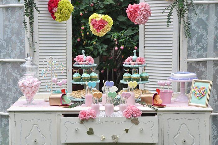 Valentines Day Garden Party beautiful treats
