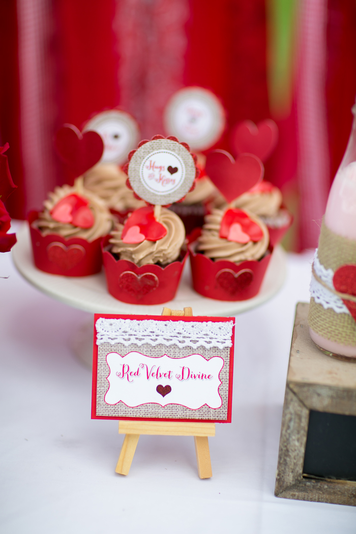celebrate happy hearts day with red velvet cupcakes