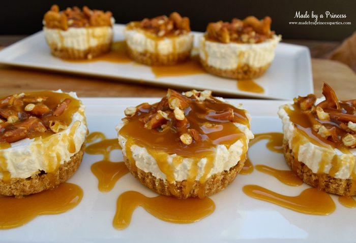 easy creamy pretzel crust no bake cheesecake dripping with caramel