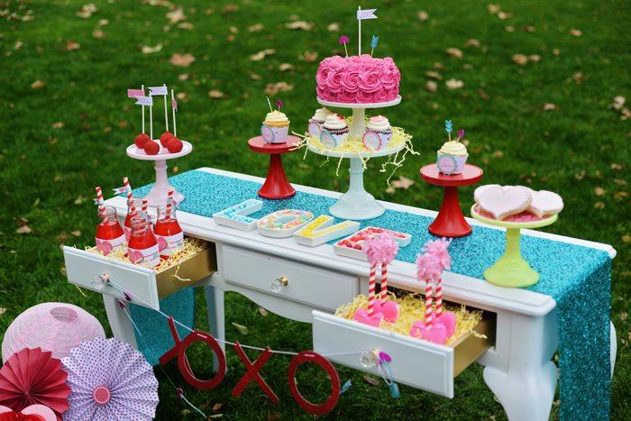 Creative Kids Valentine Party Ideas treat table