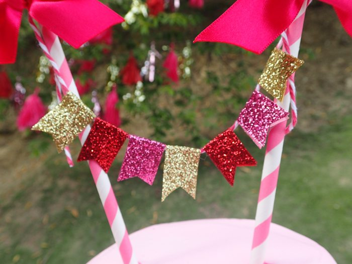 Sweet Party for Sweet Girls glitter cake banner