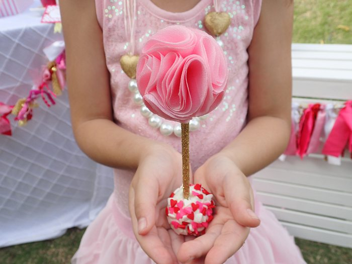 Sweet Party for Sweet Girls pretty cake pops