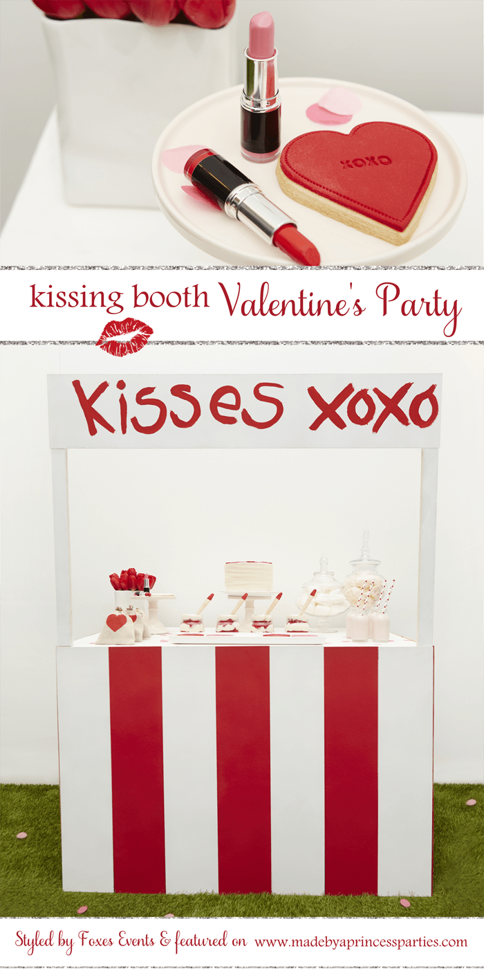 kissing booth valentines party pin it