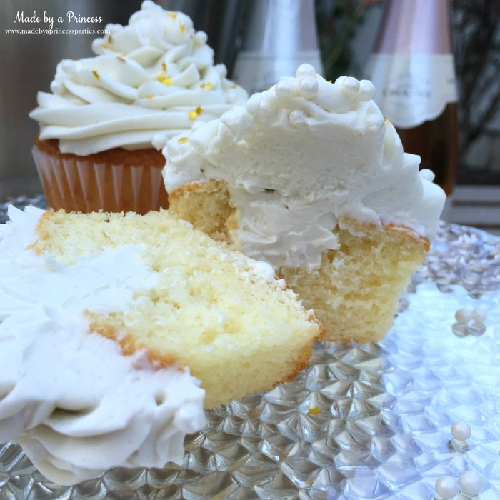 sparkling champagne cupcakes filled