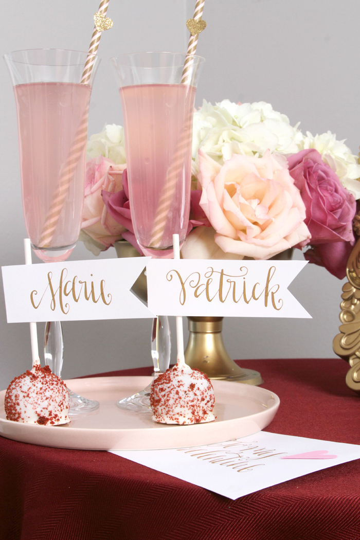 sweethearts treats for two pink cocktails