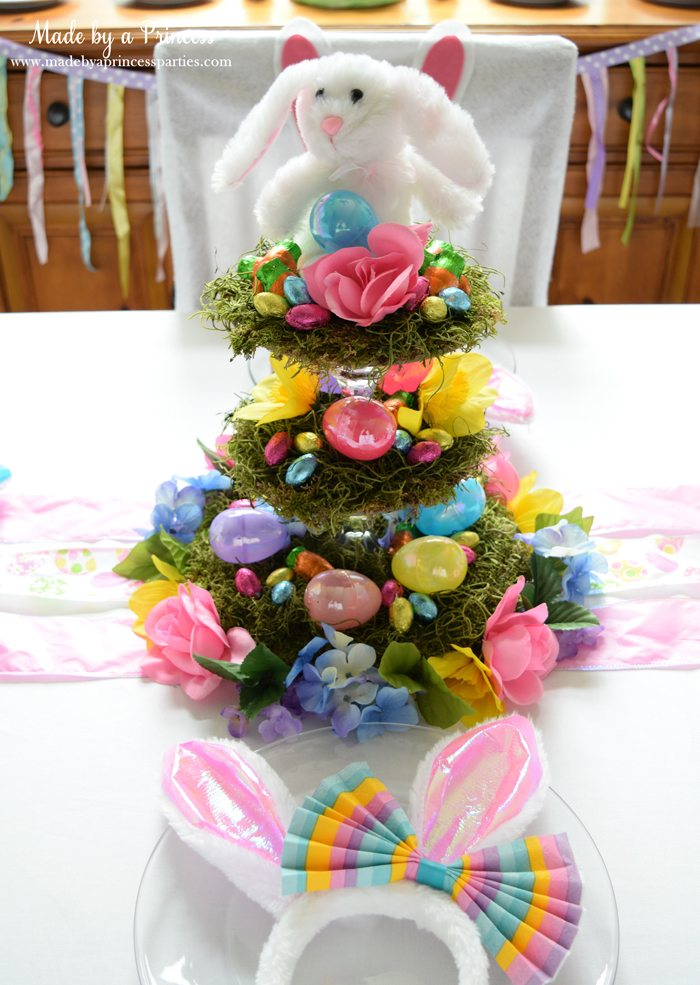 budget friendly easter ideas centerpiece with tablesetting