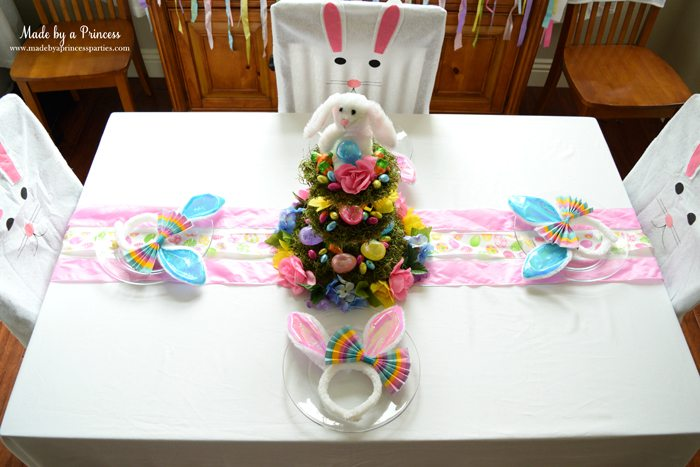 budget friendly easter ideas table top view