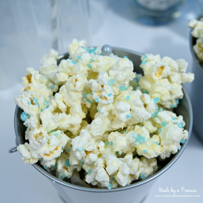 candy sprinkled chocolate covered popcorn blue