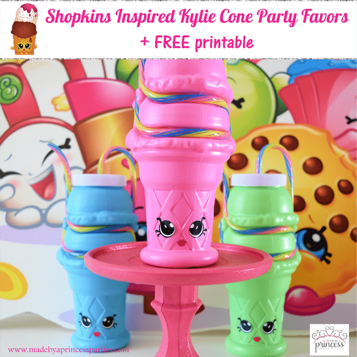 Shopkins Inspired Kylie Cone Party Favor