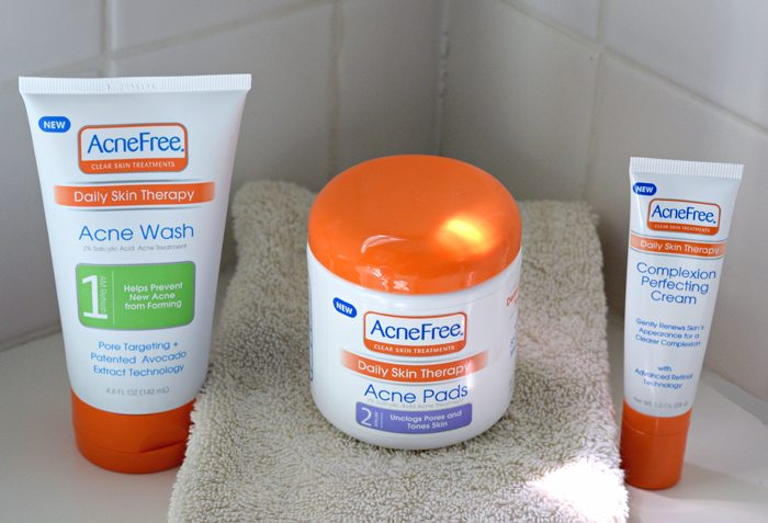 acnefree daily skin therapy set
