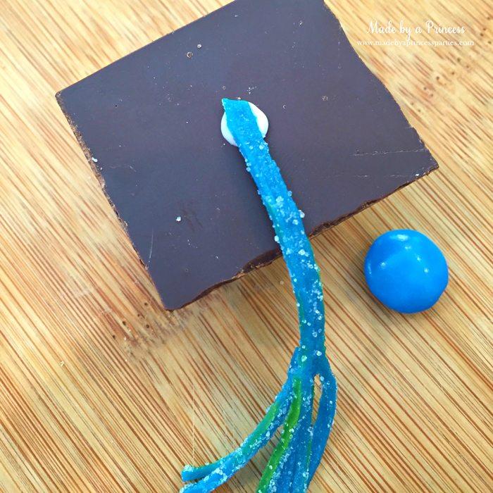 candy graduation cap cupcake toppers sour belt tasssels