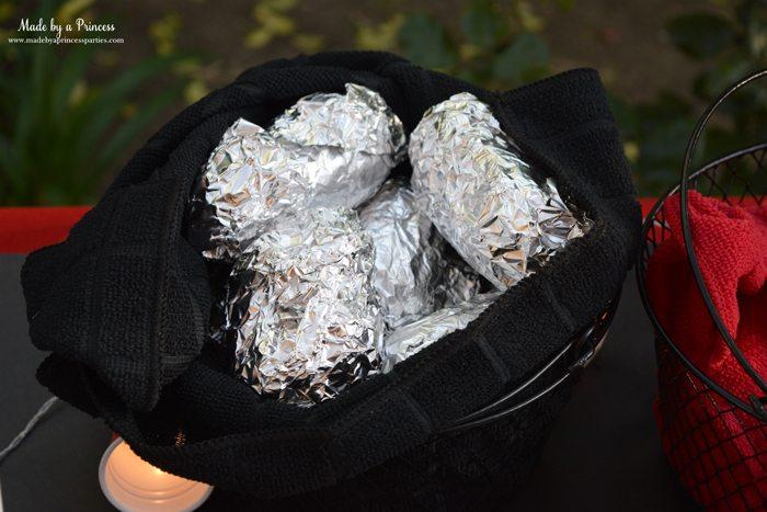 heinz build your own burger bar corn in basket