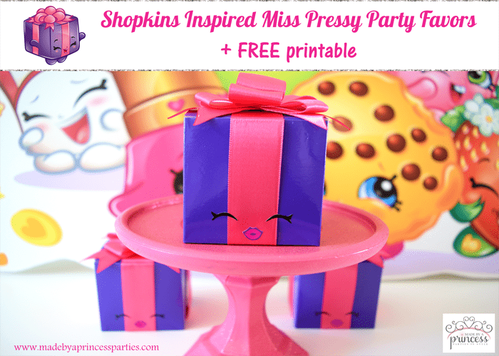 Shopkins Inspired Miss Pressy Party Favor
