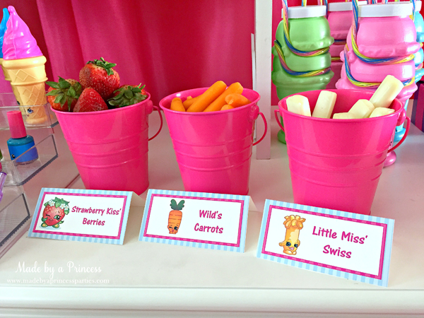 Shopkins Inspired Party Food Ideas Free Printables Made By A Princess