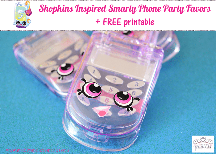 Shopkins Inspired Smarty Phone Party Favor