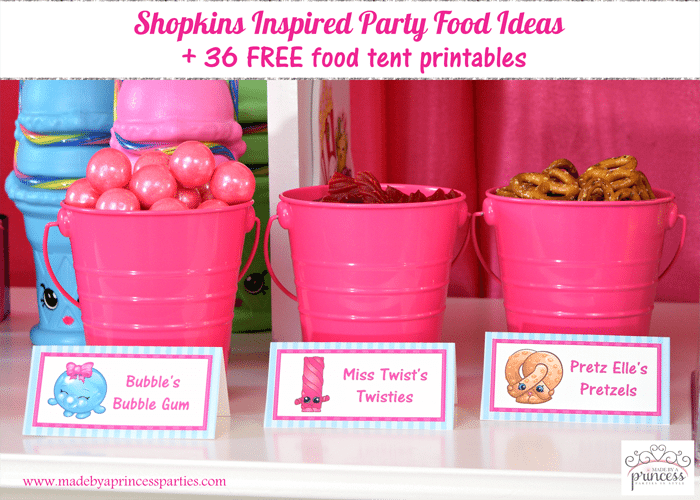 Shopkins Inspired Party Food Tents Free Printables