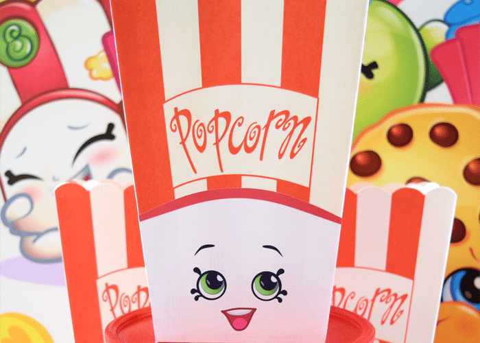 Shopkins Inspired Poppy Corn Party Favor