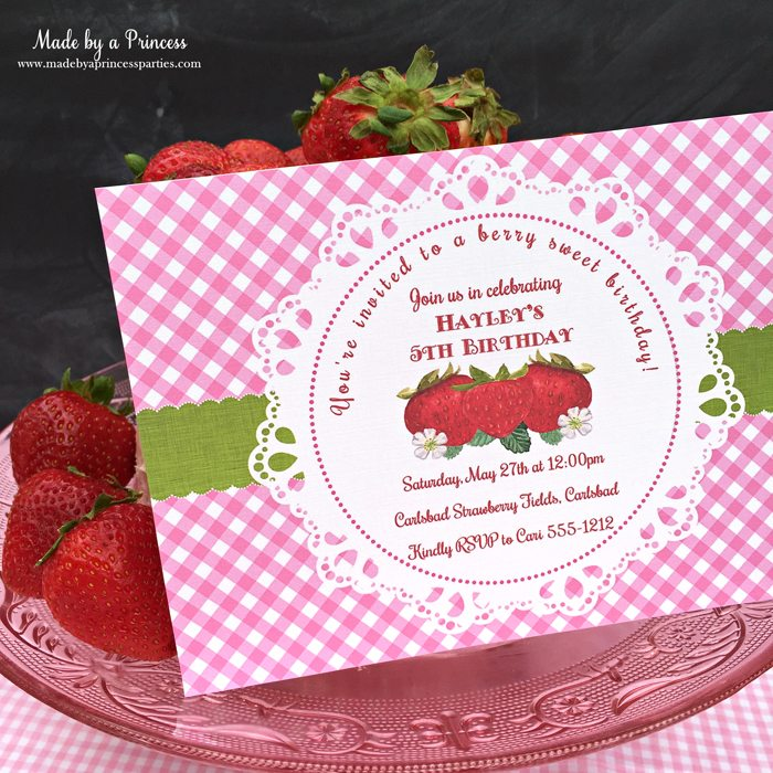 strawberry lemonade cake cream cheese frosting strawberry invitation