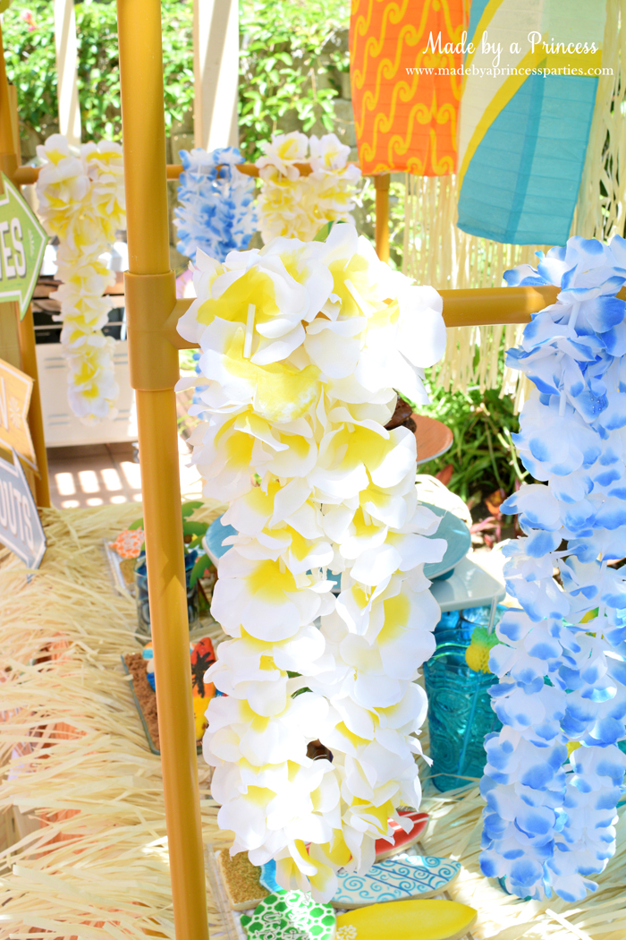surfs up graduation party with evite leis