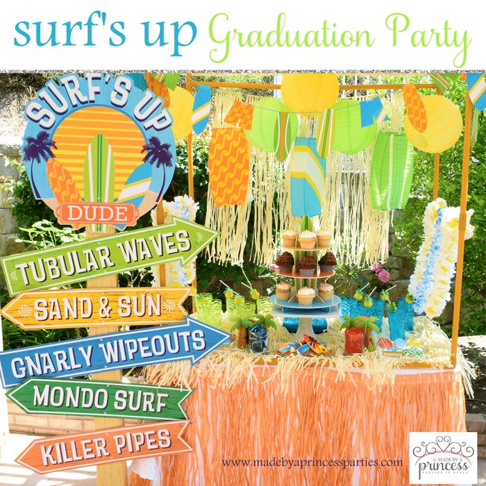 surfs up graduation party ideas