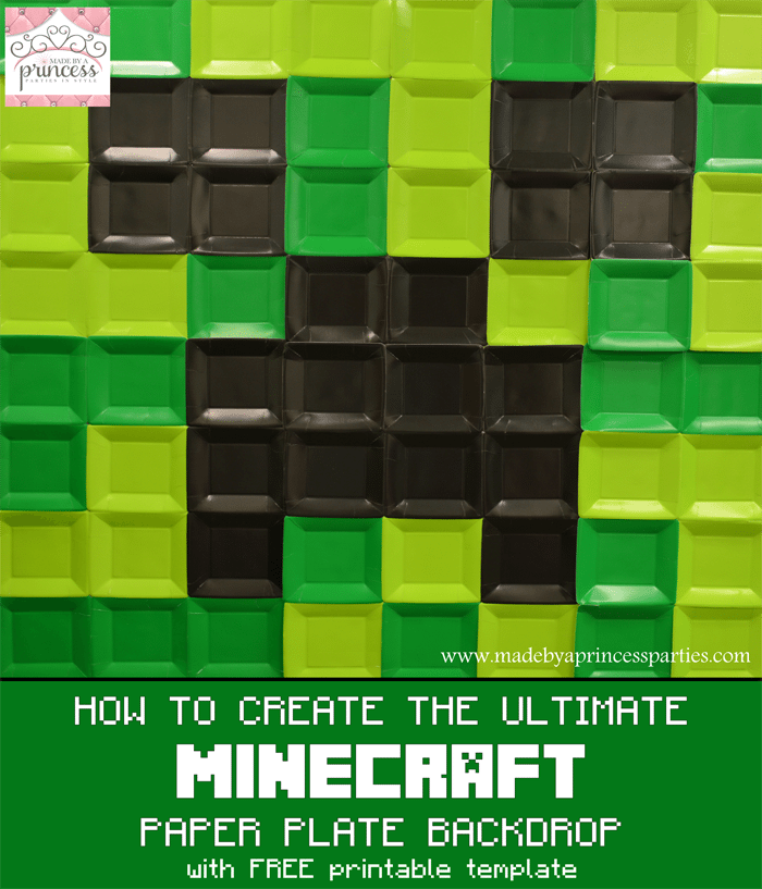 how to create the ultimate minecraft paper plate backdrop main