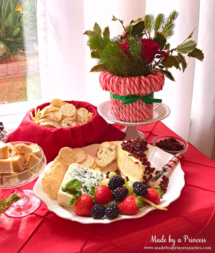 budget-friendly-holiday-mimosa-bar-party-flowers-and-cheese-platter