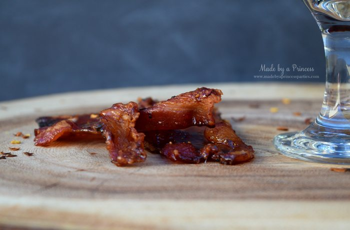 Man Candy Sweet Spicy Candied Bacon Recipe eat alone in a sandwich or in a salad