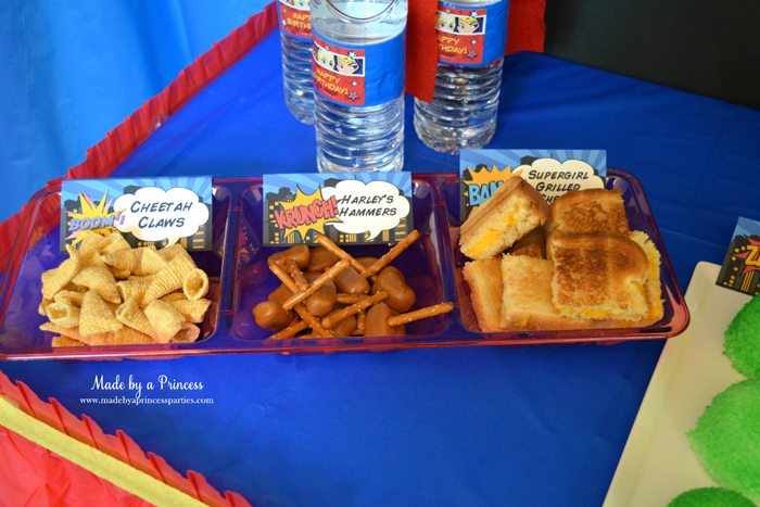 Superhero-Inspired-Party-Food-Ideas-Free-Printables-cheetah-claws-harleys-hammers-supergirl-grilled-cheese
